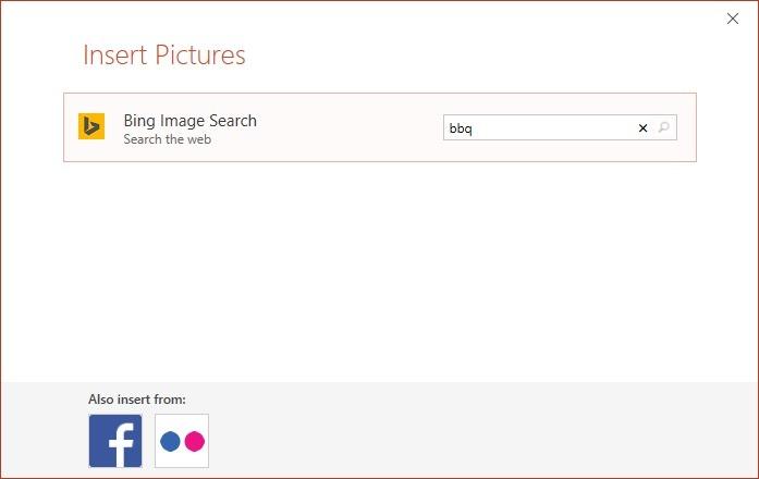 insert internet image via bing image search