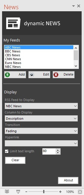 dynamic news connection options