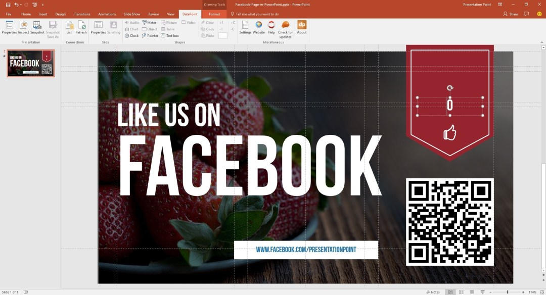 facebook page select textbox