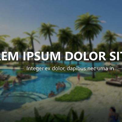 premium powerpoint design for resorts