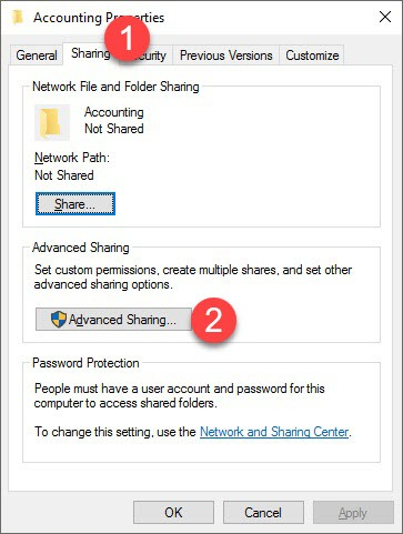 How to Put the Data File in a Network Share?