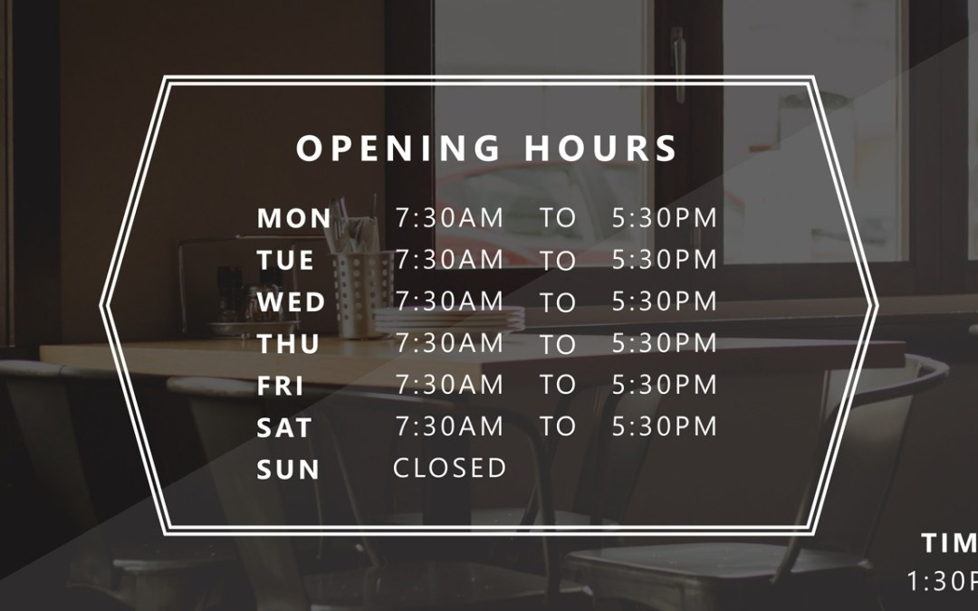 PowerPoint Business Hours Template