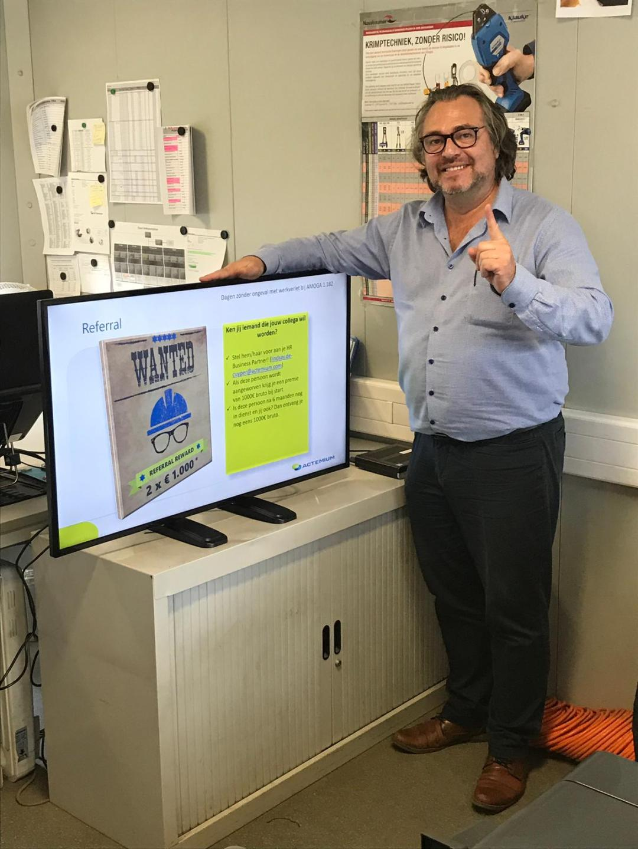 information board used by Vinci Energies