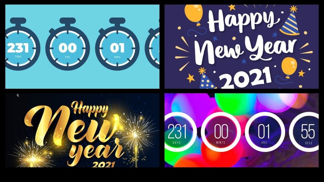 new years 2021 powerpoint template