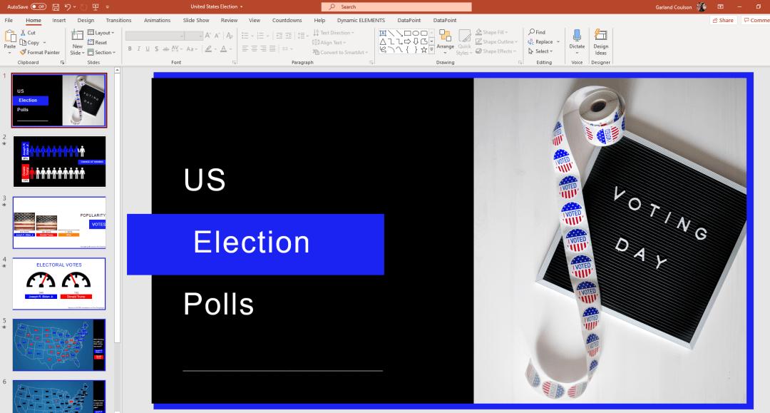 us elections powerpoint screenshot