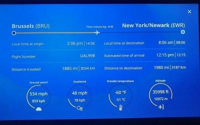Airplane In-Flight Information Screen