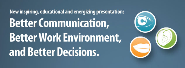 New inspiring, educational and energizing presentation