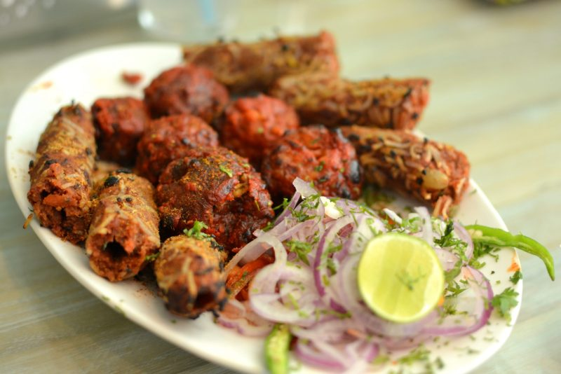 assorted vegetarian kababs
