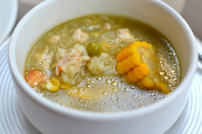 Chicken Soup with Rice and Corn
