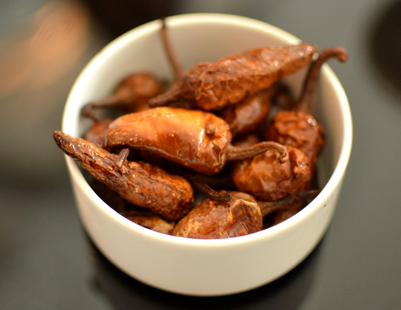 curd-coated chillies