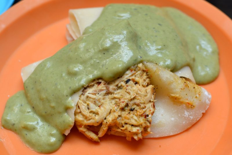 Herbed Chicken Crepe with Pesto Cream Sauce