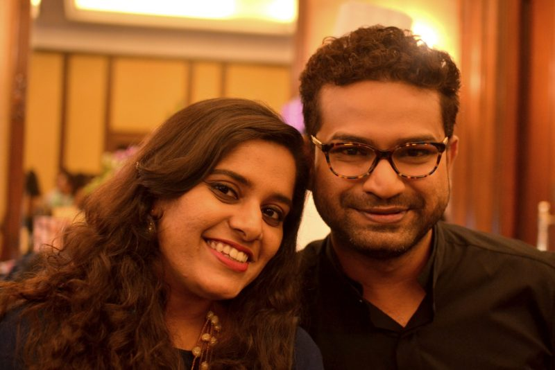 Columnist Malini Banerjee and Designer Pranay Baidya