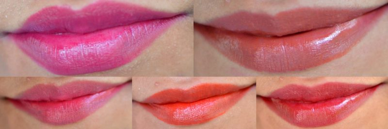Top Left: Everlasting Plum, Top Right - Forever Frappe. Bottom L-R: Rambling Rose, Charismatic Coral, Persistent Plum.