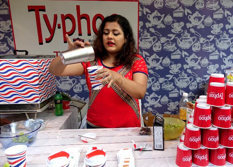 Poorna Banerjee at Typhoo Tea Bar