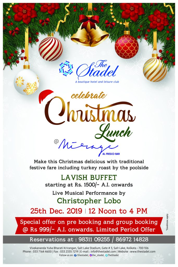 Christmas Day Brunch 2021 Near Me Presented By P Kolkata Christmas Meals And Treats 2019 Presented By P
