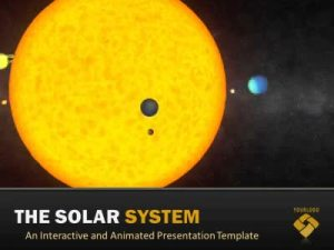 Solar System  A Science and Technology PowerPoint Template from PresenterMedia