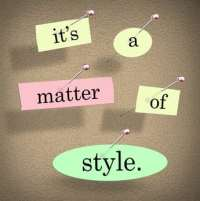 Its a Matter of Style Words Saying Unique Special Look Design Tr