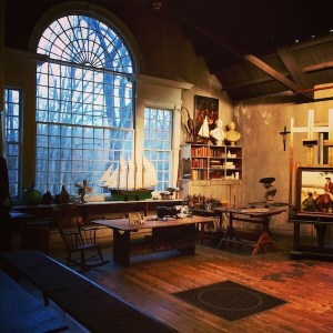 giant window lets light into the studio space for artist N.C. Wyeth
