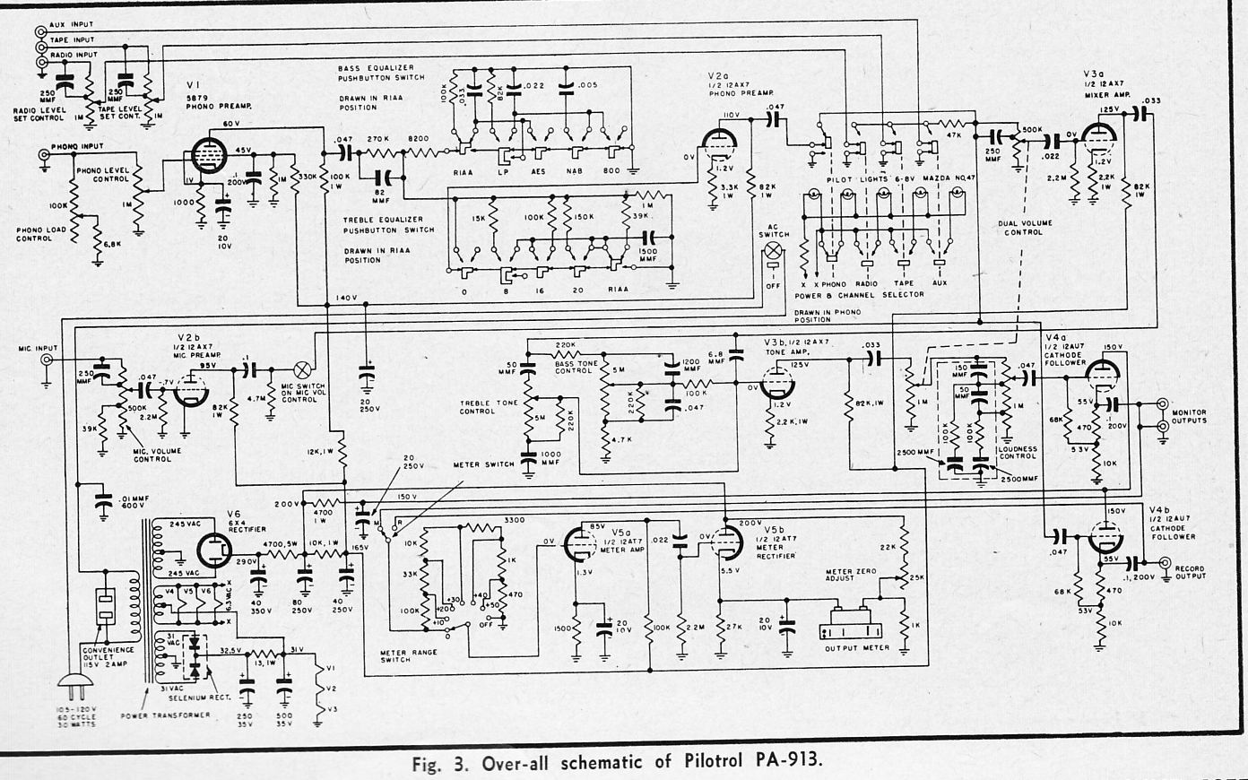 The Pilot Pilotrol Hi Fi Preamp Of The Early S