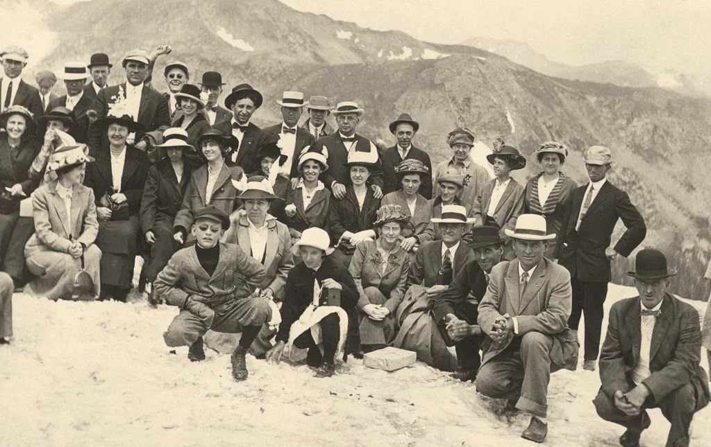 Group Photo on Rollins Pass - Historic