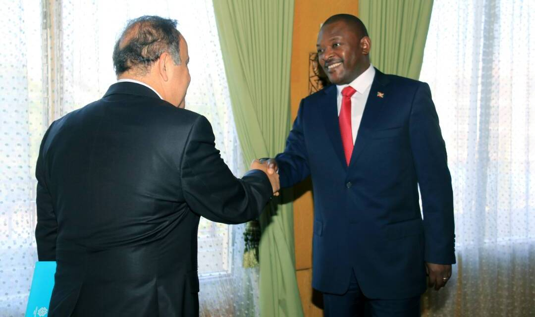 Le  Président Nkurunziza a reçu en audience l'Envoyé Spécial du Président turc