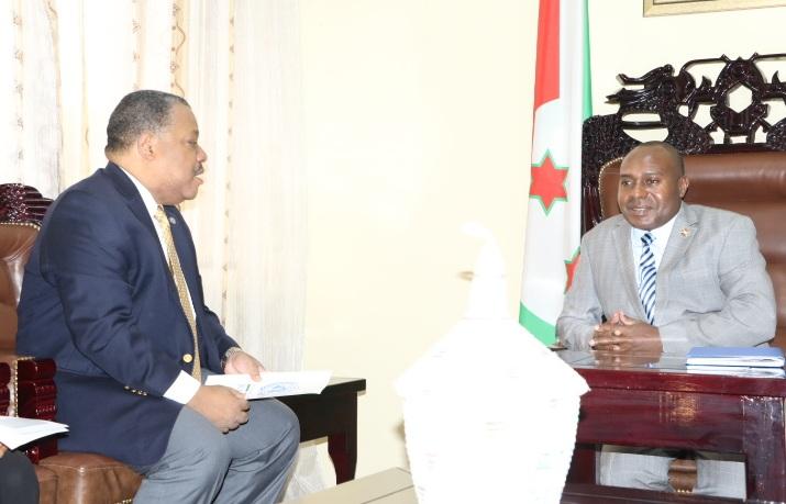 Le Deuxième Vice-Président de la République reçoit en audience le Coordinateur Résident du Système des NU et Représentant Résident du PNUD