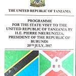 Le Président Pierre Nkurunziza effectue une visite d'Etat en Tanzanie
