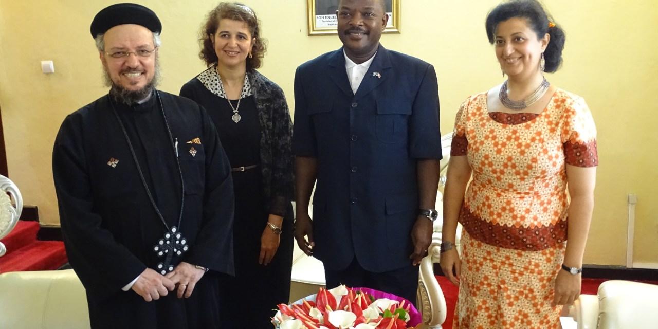 Son Excellence Pierre Nkurunziza reçoit en audience un représentant de l'Eglise orthodoxe copte