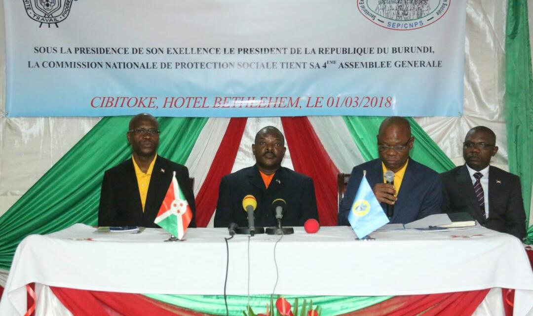 Son Excellence Pierre Nkurunziza préside l'Assemblée Générale de la Commission Nationale de Sécurité Sociale