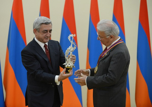 President Serzh Sargsyan received Federico Faggin - the ...