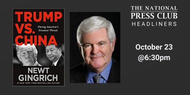 """Former House Speaker Newt Gingrich to discuss new book, """"Trump vs ..."""