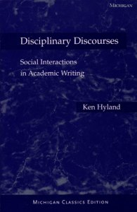 Genre and Second Language Writing Cover image for  Disciplinary Discourses  Michigan Classics Ed