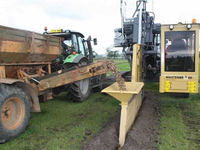 Trenching Machines Working : New trenching machine starts work on scots farms press