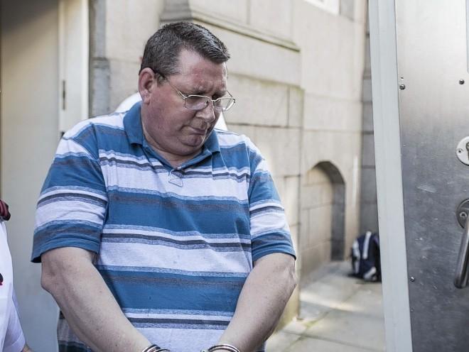 David Robertson outside court