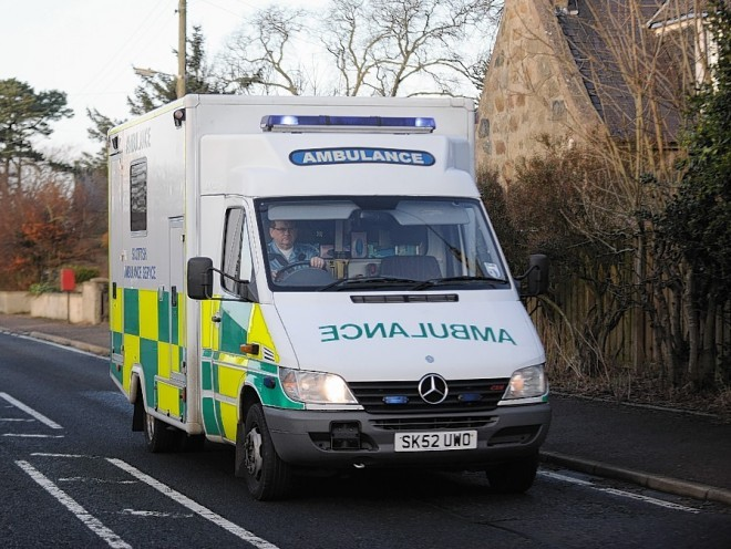 A 51-year-old man has been taken to Raigmore Hospital with arm injuries after being attacked by his own pet dog