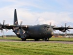 Hercules taking part in Exercise Joint Warrior at RAF Lossiemouth