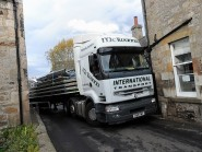 Pictures show the trail of destruction left by the lorry in the tiny village