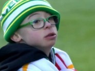 11-year-old Celtic fan Jay Beatty won Scottish football's goal of the month award after a landslide online vote (SPFL/PA)