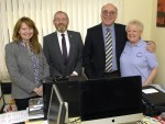 L-R: Keith Cancer Link, Rosemary Pannell, Councillor Ron Shepherd, Councillor Stewart Cree and Adeline Reid.