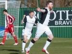 Dale Gillespie celebrates netting for Brora