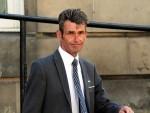 Graham Mutch, direcor of the company, leaving Elgin Sheriff Court