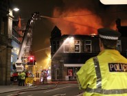 The fire on Academy Street, picture by Catherine Welsh