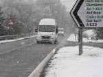 Snow in Braemore yesterday. Picture by Peter Jolly