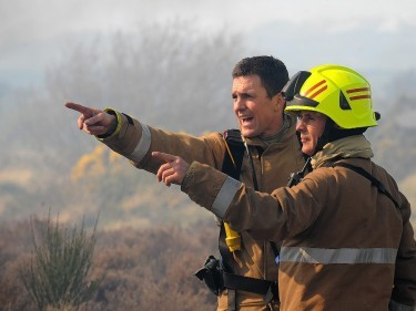 Firefighters have been called to the blaze near Lossiemouth