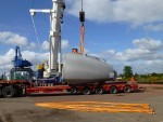 Windfarm parts arrive at the Port of Inverness