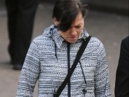 Helen Smith outside Dunfermline Sheriff court where she was found not guilty