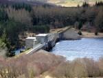 Lairg Dam in Sutherland which has been targeted by vandals.
