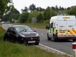 Emergency services were called to the A92 following the crash this morning.