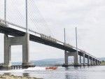 The yacht broke down while sailing underneath the  Kessock Bridge