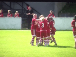 Aberdeen celebrate Campbell's strike.